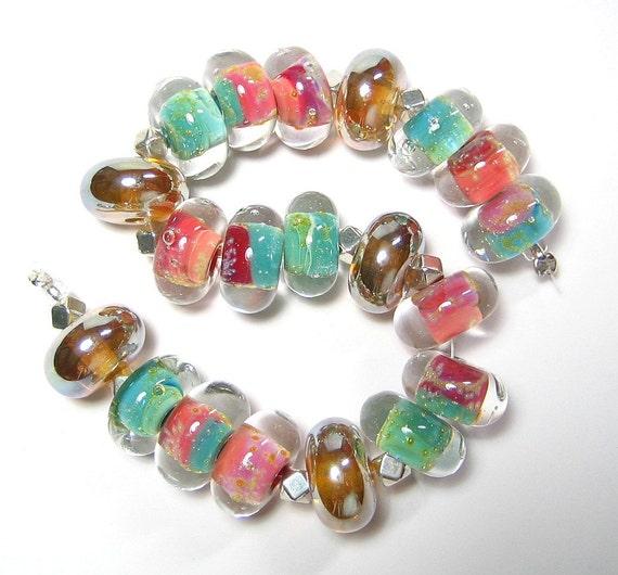 Quinlan Glass Summer Diva Boro Handmade Lampwork Glass Beads