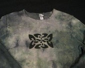 CELTIC KNOT Airbrushed and Tye Dyed Longsleeve Cotton T-Shirt