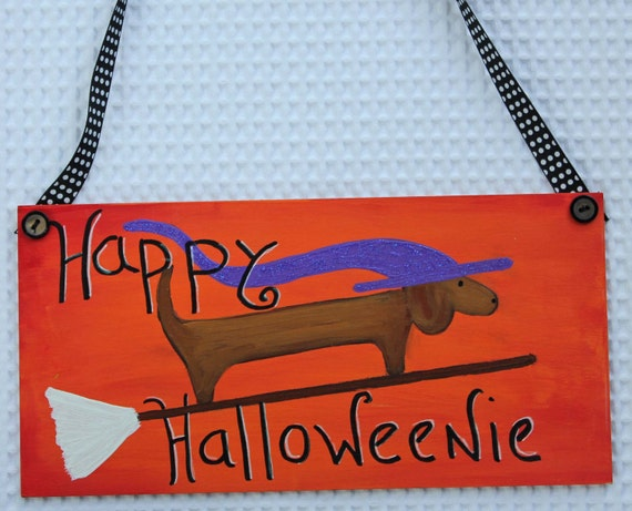 Halloween and Thanksgiving Dachshund Door or Wall Decoration