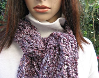 Crochetted Scarf - Wine