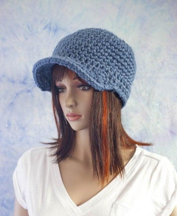 Newsboy Hat - Light Blue Denim