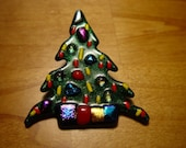 Christmas is coming . Christmas Tree pin Or pendant.