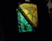 WOW FACTOR  Large Dichroic Fused Glass Pendant