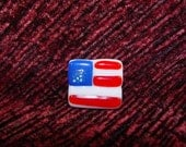 AMERICAN FLAG PIN Veteran Made