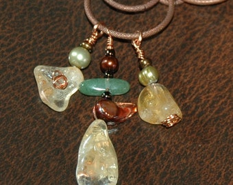 Chunky Citrine and Copper Necklace