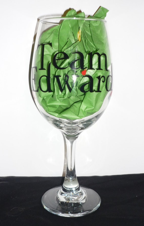 Team Edward Wine Glass