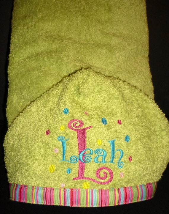 kids personalized hooded bath towel
