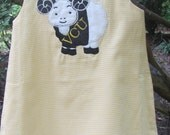 Yellow Gingham A-Line Dress with VCU Ram