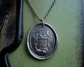 French Family Crest Wax Seal Necklace