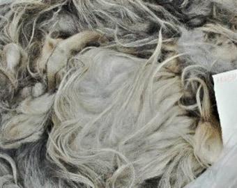 2 Grey Hills colors raw  Navajo-churro wool