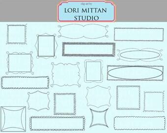 Digital Clip Art Frames, Clip Art Label Frames, Whimsical Frames, Digital Files, for personal and commercial use