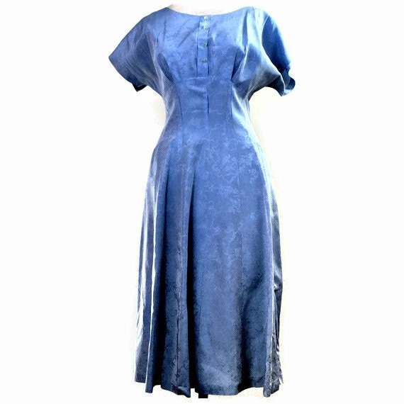 SALE  50s Iridescent Powder Blue Formal Cocktail Dress