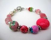 Burst of Spring Beaded Bracelet
