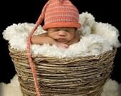 Handknit Newborn,Children Stocking Cap, photo prop. Choose your colors
