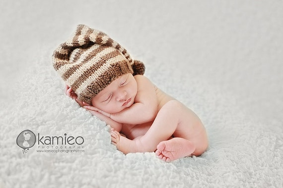 Short Stack Stocking Cap, Newborn, Infant, Baby Hat, Boy or Girl Photo Prop
