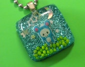 Resin  Mouse  Pendant - Mouse at Night