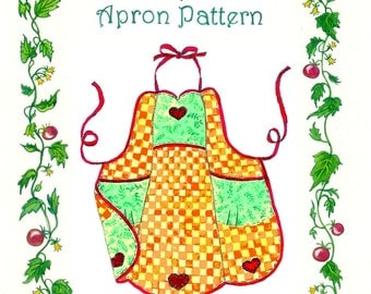 Queen of Hearts Apron Pattern by The Paisley Pincushion