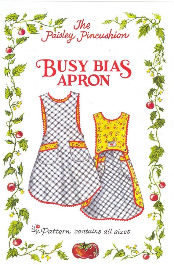 Busy Bias Apron Pattern