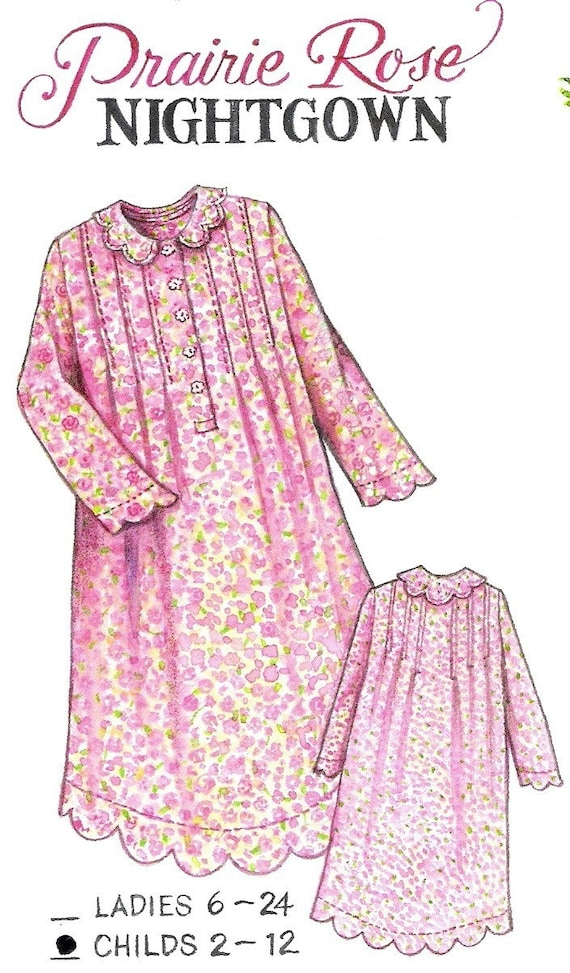 Prairie Rose Night Gown Childs Size