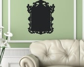 Chalk Board Frame 1  Baroque  Vinyl Decor Wall Lettering Words Quotes Decals Art Custom Willow Creek Signs