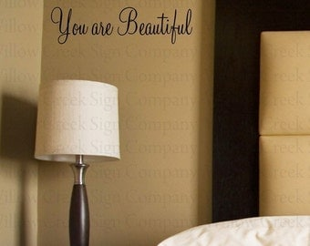 You are Beautiful Vinyl Wall Art Decal Lettering Words Graphic