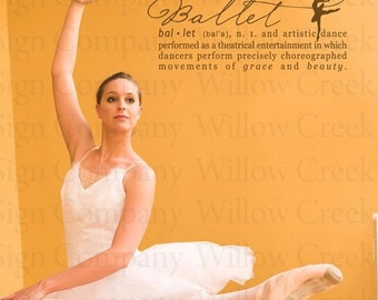 Ballet Definition Wall Lettering Words Vinyl Art Quotes Dance Design Graphic