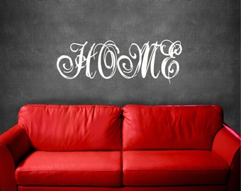 25x9 Home Fancy  Vinyl Decor Wall Lettering Words Quotes Decals Art Custom Willow Creek Signs