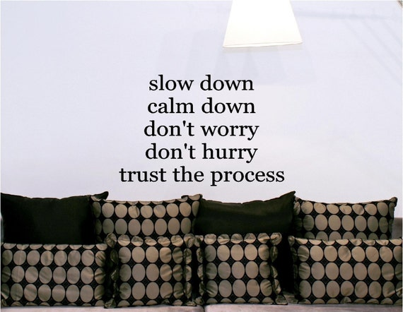 23x15 Slow Down Calm Trust The Process Vinyl By