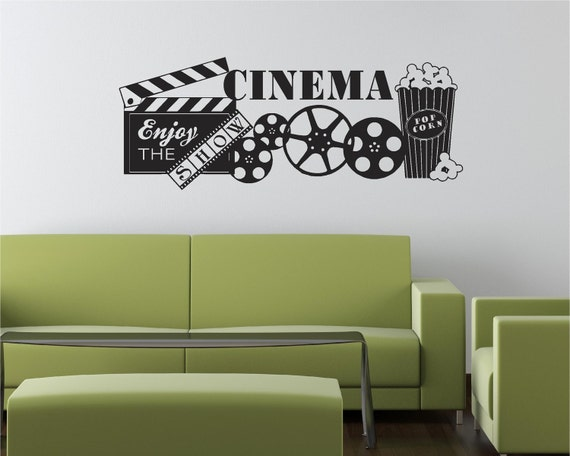 Movie Quotes Wall Art : Items similar to cinema movie popcorn theater show