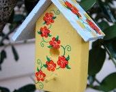 Cheery Sunshine Yellow Birdhouse Ornament