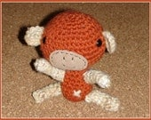 Crocheted Amigurumi Monkey