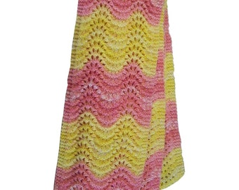 Long and Lacey Ripple Lace Scarf - Knitting Pattern