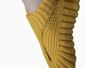 Sling-Heel Slippers - Vintage Knit Pattern (PDF)