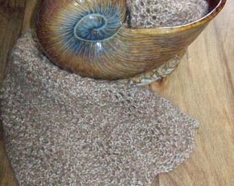Sandy Wave Knitted Ripple Lace Scarf - Knitting Pattern (PDF)