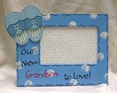 Grandparents Picture Frame Its a Boy Our Grandson to Love 4x6