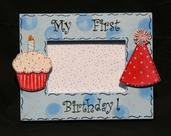My First Birthday Picture Frame 4x6 Personalized