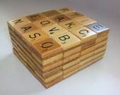 Scrabble coasters, set of six