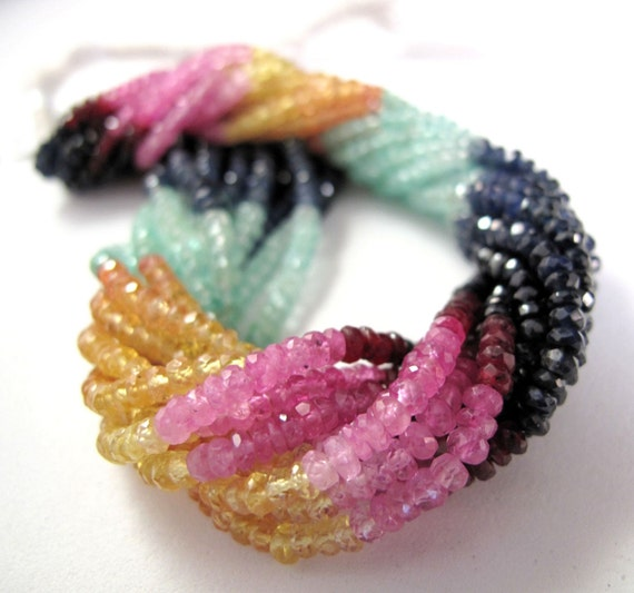 SAVE the LUXE 40% Off Sapphire...Ruby...Emerald...OH My - 3mm Multi Precious Rondelles