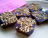 A box of 9 chocolates with mint and buckwheat. Vegan, organic, fair trade, gluten free and nut free