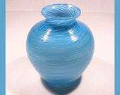 Opal Turquoise Twisted Bud Vase