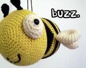 Amigurumi PATTERN: Crochet Bumble Bee -pdf-