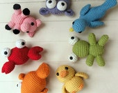 Amigurumi Crochet PATTERN COLLECTION: Rainbow Amigurumi -pdf-
