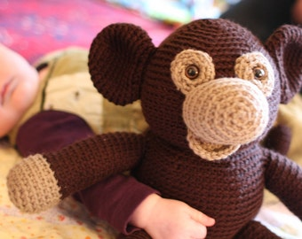 Crochet PATTERN: Plush Monkey -pdf-