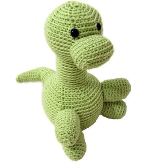 Amigurumi Dinosaur Pattern : Items similar to Amigurumi PATTERN: Crochet Dinosaur -pdf ...