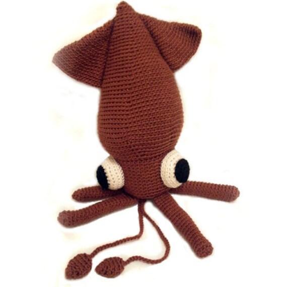 Amigurumi PATTERN: Crochet Squid -pdf-