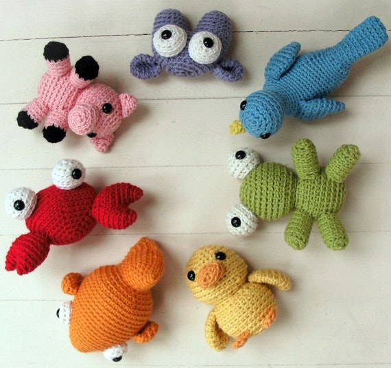 Amigurumi Askina Etsy : Items similar to Amigurumi Crochet PATTERN COLLECTION ...