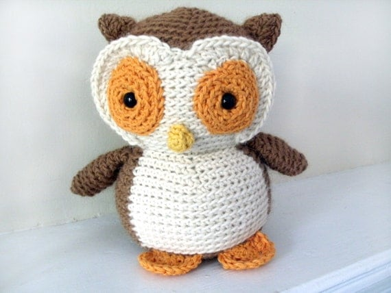 Crochet Owl: Custom Stuffed Owl OOAK