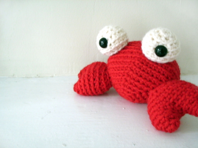 Amigurumi Crochet Toys : Crochet Amigurumi Crab: Plush Toy