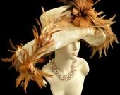Kentucky Derby hat, Summer Hat, Easter hat, womens hats for weddings, garden parties 'FLIRTATIOUS'