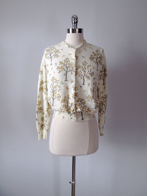 1960s Sweater - Spring Trees